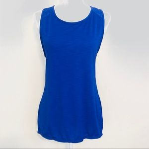 ATHLETA BLUE RACER BACK TOP SIZE M